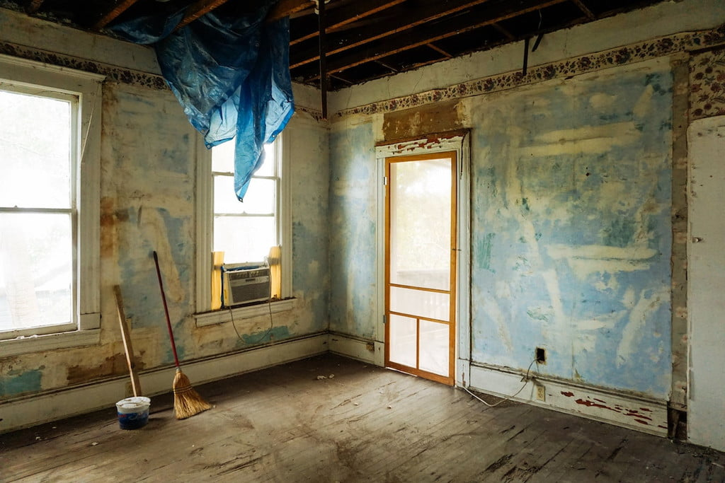 An empty room-renovation project