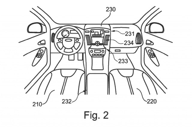 Ford Motorcycle in Car patent