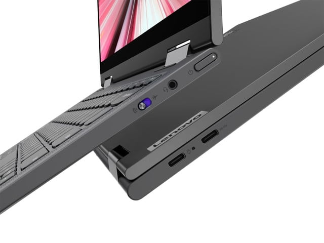 lenovo flex 5g first pc ces 2020 12 yoga 14inch closeup ports both sides 768x576
