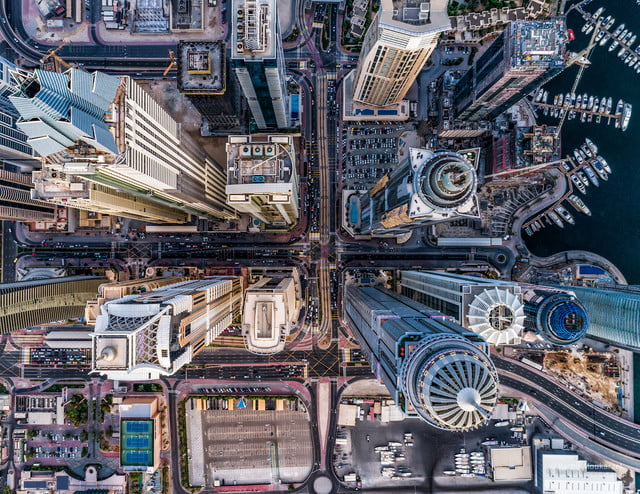 dronestagram photography contest 2017 1st prize winner category urban  concrete jungle dubai eaa by bachirm