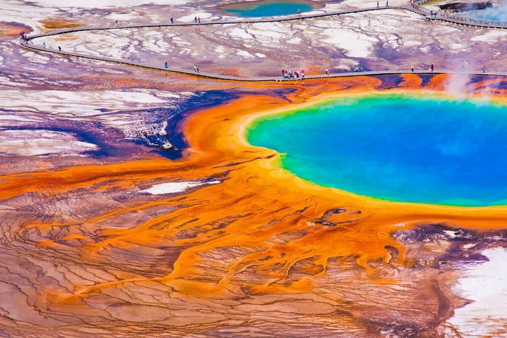 videographer charged for tresspassing at hot spring 20138766  the world famous grand prismatic in yellowstone national park
