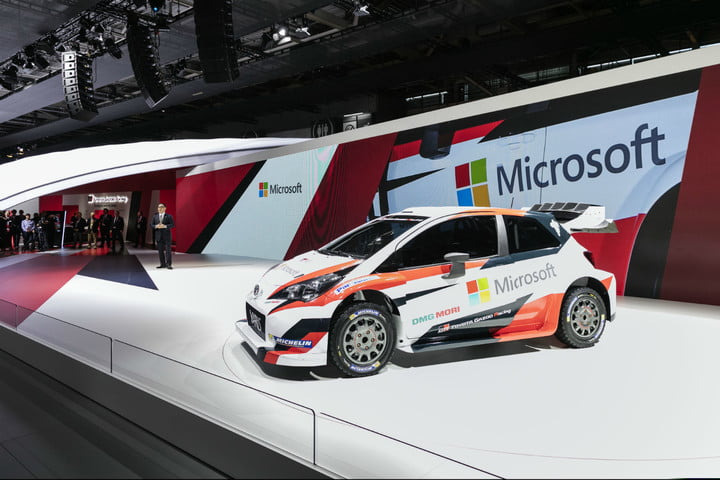 Toyota and Microsoft join for WRC