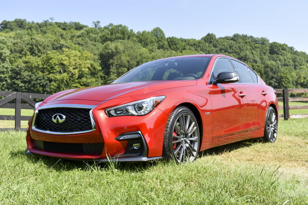 2018 Infiniti Q50 front shot of car angled to the left