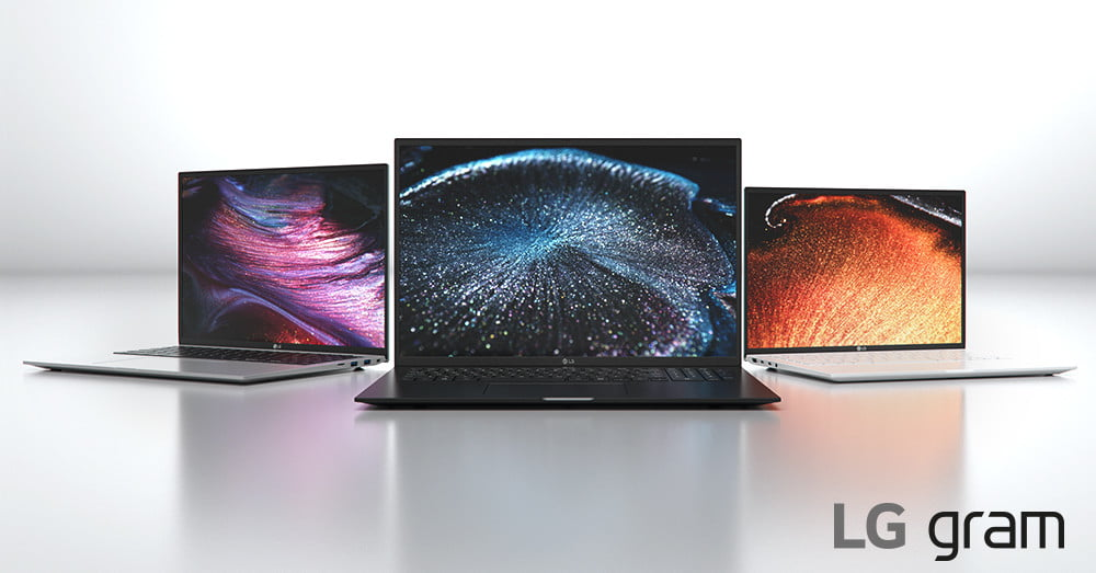 New LG Gram laptops feature 16:10 screens and Intel's 11th-gen processors