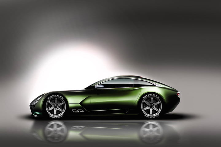 TVR sports car rendering