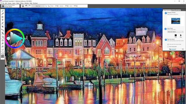 corel painter essentials 6 launches 2 smart photo painting