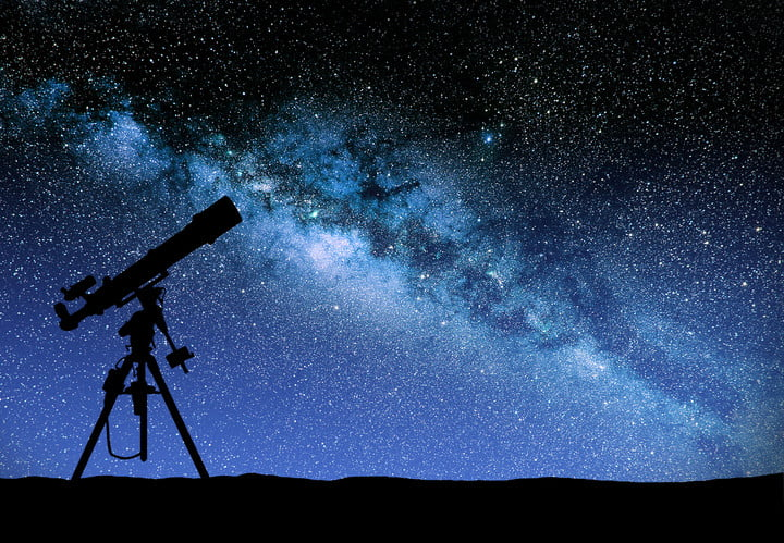what is fermi paradox 30577768  illustration of a telescope watching the wilky way