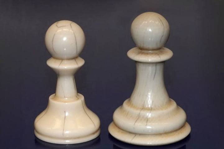 3d printed ivory chess pawns