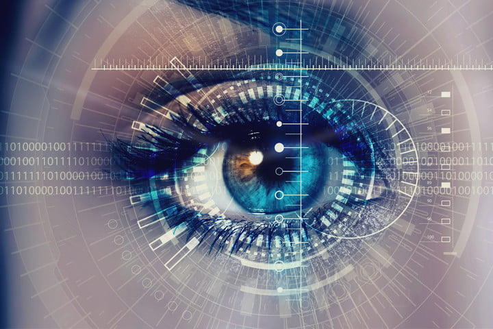 biometric sensors security scanners in vehicles 49818131  close up of woman eye process scanning