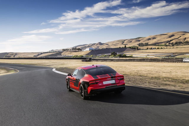 Audi RS 7 self-driving concept at Sonoma Raceway