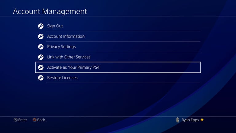 PS4 Gamesharing Activate primary ps4