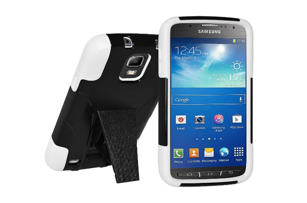 best galaxy s4 active cases amzer hybrid case with kickstand