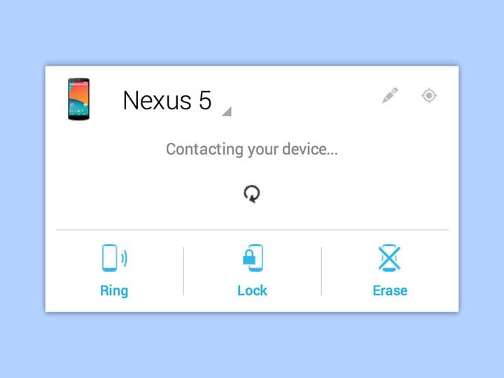 lost android phone can now call device manager