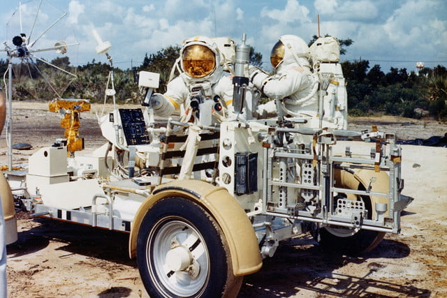 history of the moon buggy lunar roving vehicle ap15 ksc 71pc 500hr