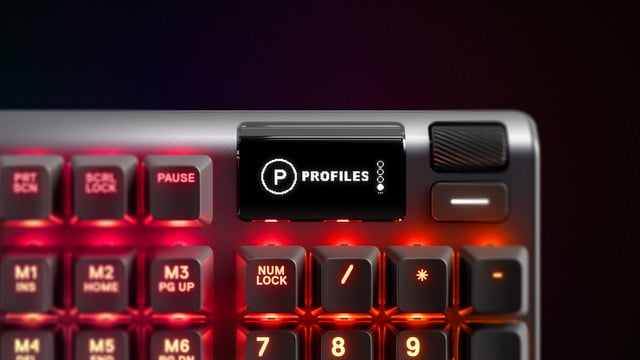 steelseries apex pro adjustable actuation with oled screen apexpro kv display 001