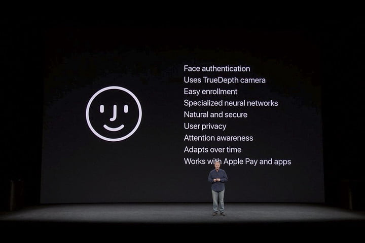 Apple faceID announcement for the iPhone X