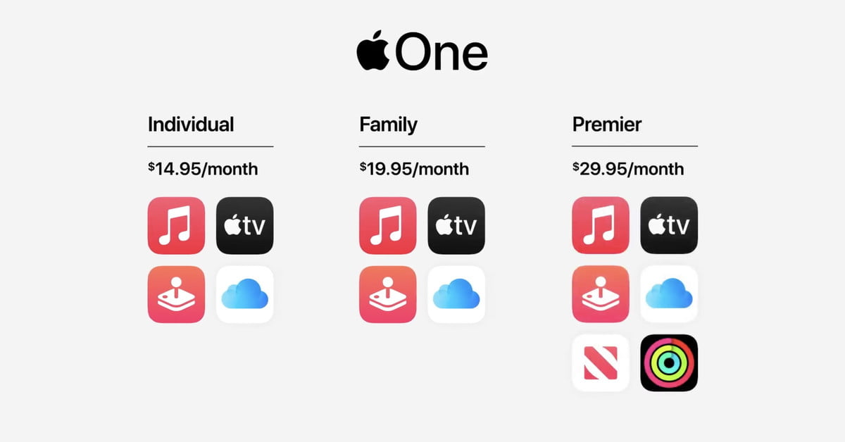 Apple One subscription brings all of Apple's services together starting at $15 per month