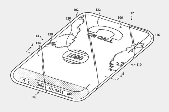 port less iphone wraparound display patent apple phone 2