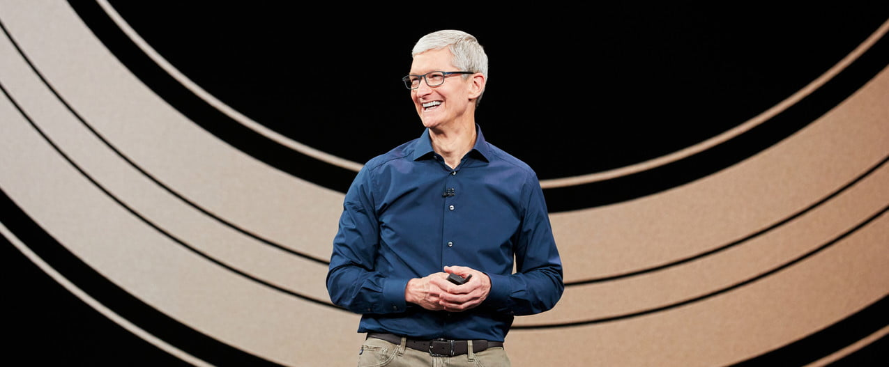 Apple's Tim Cook at an Apple event