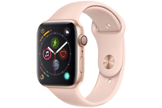 amazon 4th of july sale apple watch series 4  gps 44mm gold aluminium case with pink sand sport band 1