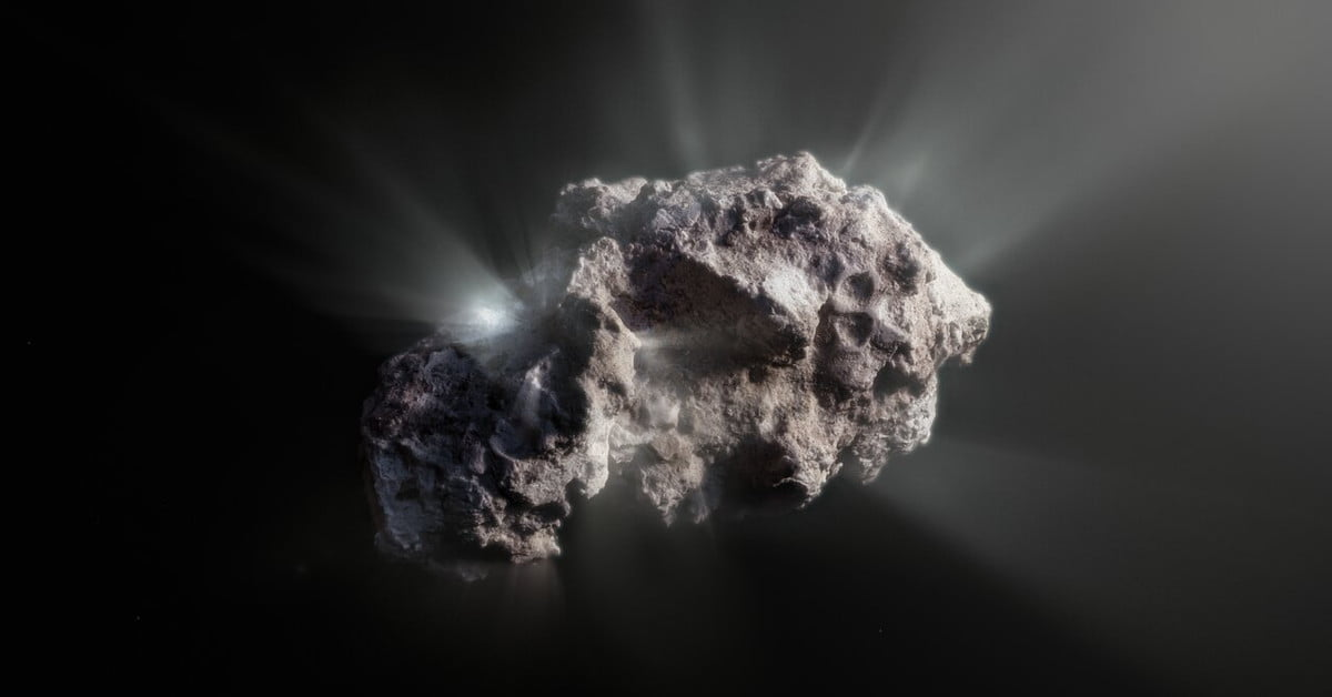 This comet is a pristine visitor from the earliest days of the solar system