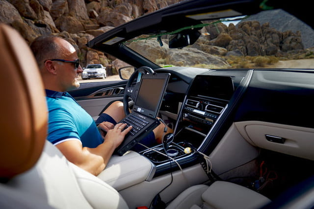 bmws tests its latest 8 series convertibles prototype in death valley bmw convertible testing  5