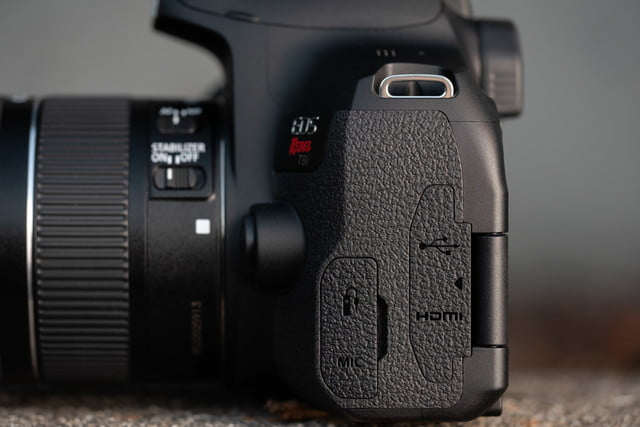Product photo of Canon EOS Rebel T8i, left side