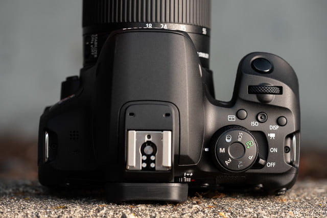 Product photo of Canon EOS Rebel T8i, top