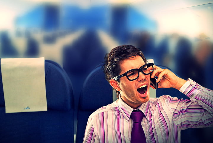 cell phone airplane etiquette