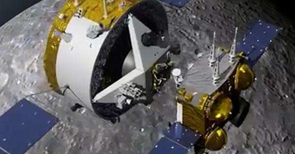 Chinese spacecraft carrying moon rocks begins its journey back to Earth
