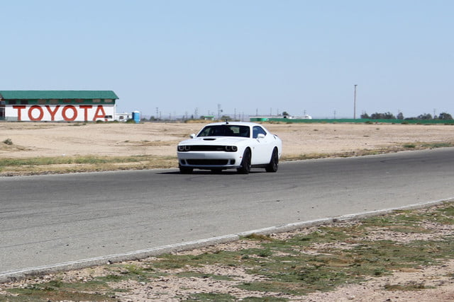 2015 dodge charger challenger srt hellcats track review and hellcat on front 3