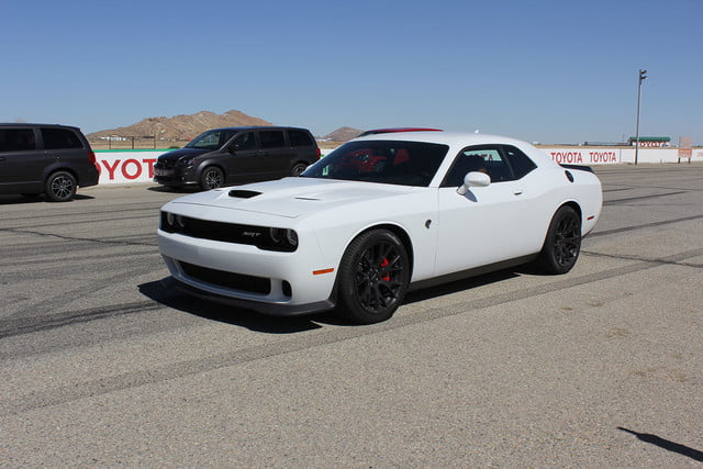 2015 dodge charger challenger srt hellcats track review and hellcat on front full