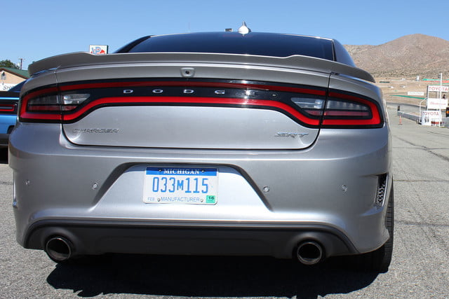 2015 dodge charger challenger srt hellcats track review and hellcat on silver back full