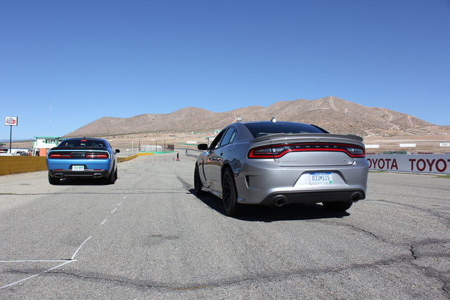 2015 dodge charger challenger srt hellcats track review and hellcat on silver blue back