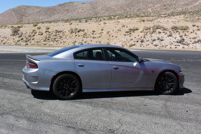 2015 dodge charger challenger srt hellcats track review and hellcat on silver side