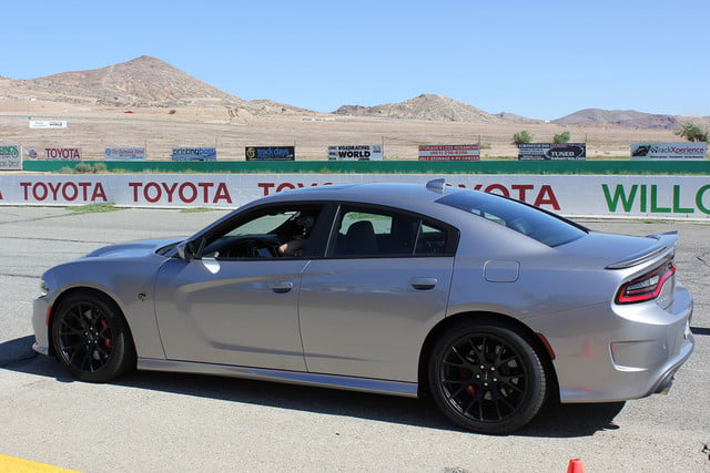 2015 dodge charger challenger srt hellcats track review and hellcat on silver