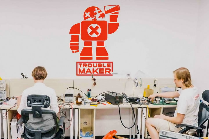 chinese makerspace troublemaker logo