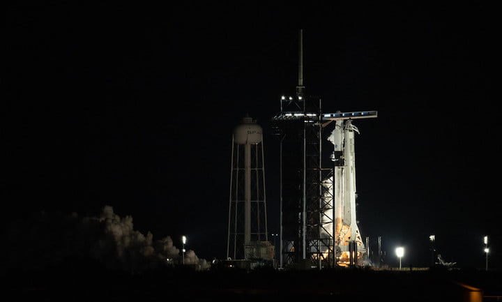 SpaceX performs Falcon 9 static fire test ahead of second crew mission to ISS