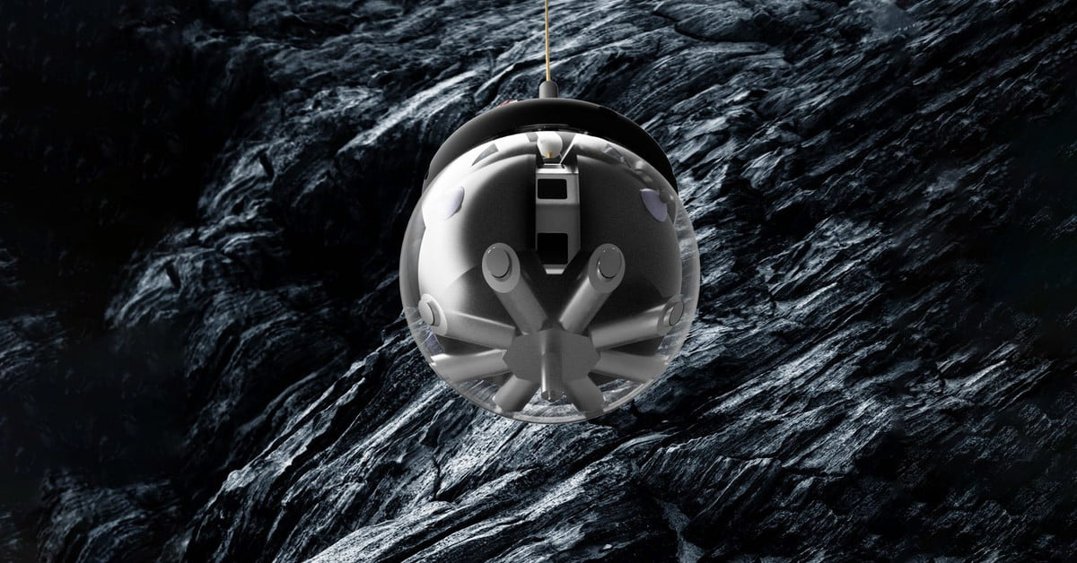 This spherical, BB-8 style robot is built to explore lava caves on the moon