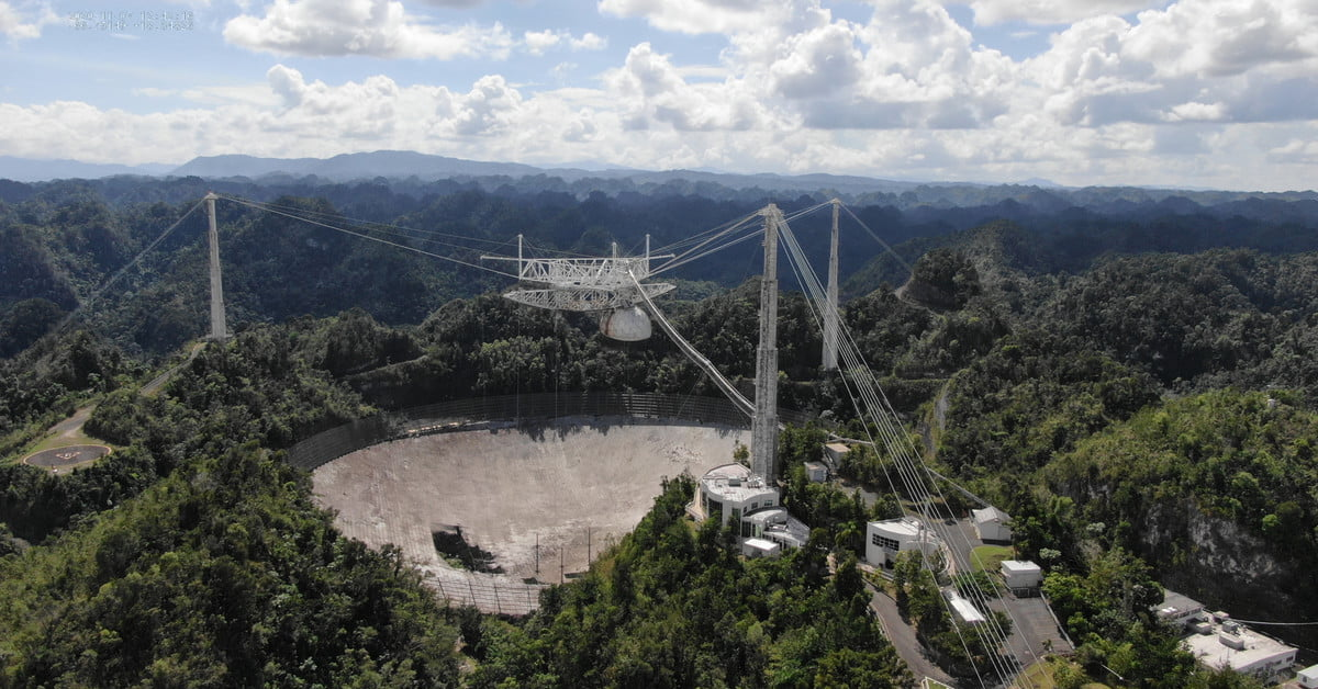 Video shows dramatic collapse of iconic Arecibo Observatory telescope