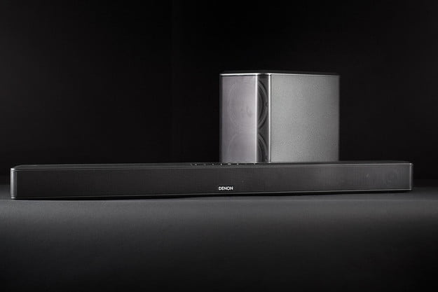 Denon DHT S514 review sound bar and sub front