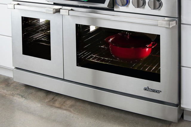 dacors voice activated oven debuts at ces 2015 discovery iq 48 inch dual fuel range sideview2