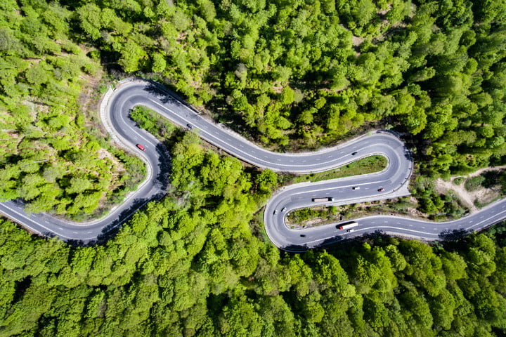 driverless car complex journey drone road