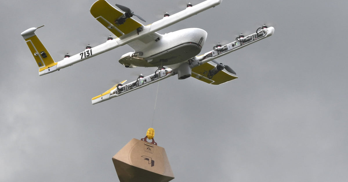 Watch Google's Wing drones make deliveries to folks in Virginia