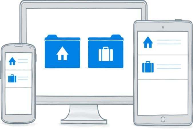 dropbox update will finally let users keep one account home business