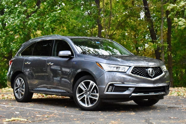 2020 acura mdx sport hybrid review front three quarter