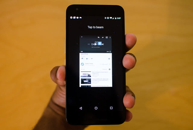 how to use android beam
