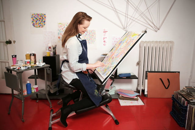 awesome tech you cant buy yet luminoodle freebird one artbrew edge desk  portable adjustable stowable kneeling