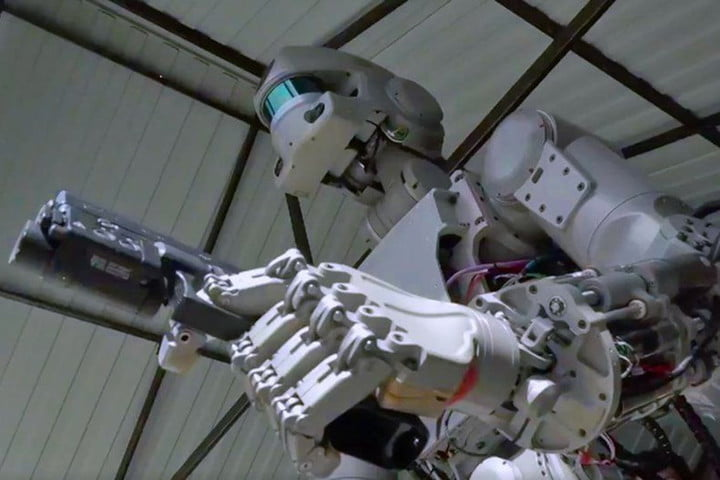 russian gunslinging robot to space station fedor 2