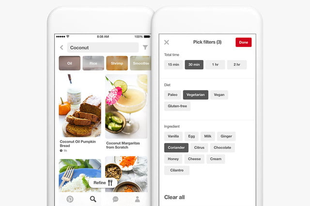 pinterest adds food search features filters